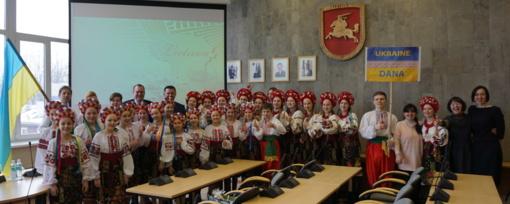 Plungės rajono savivaldybės vadovai pasveikino jaunimo festivalio svečius iš Ukrainos