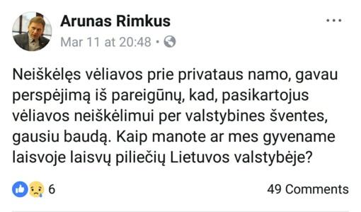Kovo 11-osios pašnekesiai apie vėliavą: politikas klausė, ar gyvename laisvoje Lietuvoje