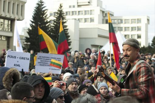 Prie Seimo vykusiame mitinge pažeidimų nenustatyta