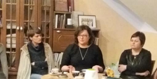 Kalvarijos jaunimas bendravo su LDB direktore   L. Valalyte