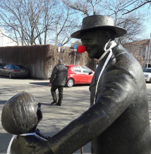 Vilniaus F. Zappa, C. Šabadas, R. Gari - su klounų nosimis