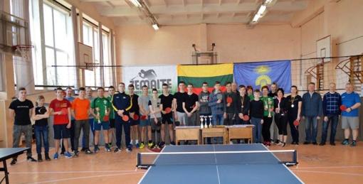 Vyko Plungės rajono stalo teniso čempionato C lygos varžybos