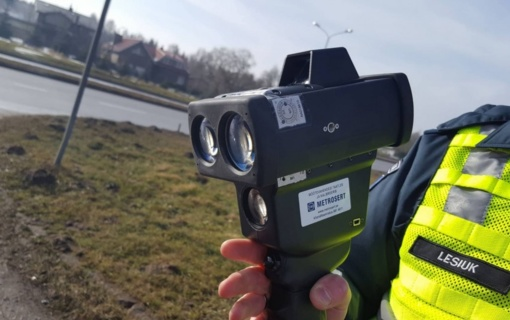 Šiaulių policija pradeda naudoti naują greičio matuoklį (vaizdo reportažas)