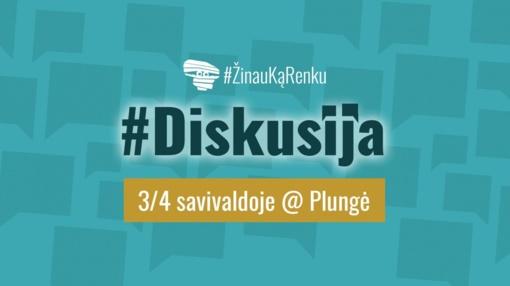 """Plungės krašto jaunimas kviečia į diskusiją """"3/4 savivaldoje"""" Plungėje"""