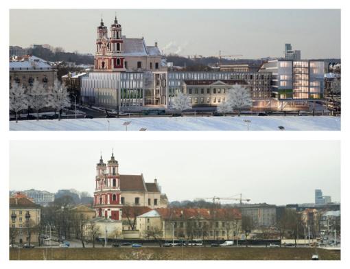 """Prie savivaldybės - piketas dėl Šv. Pilypo ir Jokūbo """"kišimo į stiklainį"""""""