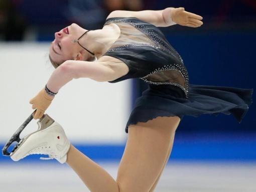 Čiuožėja E. Kropa pasaulio čempionate aplenkė šešias varžoves