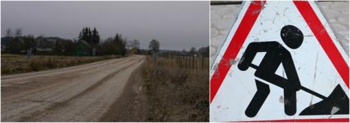 Rajoninius kelių ruožus planuoja asfaltuoti: laukiama palankių oro sąlygos