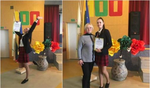 Meninio skaitymo konkurso nugalėtoja – Rietavo Lauryno Ivinskio gimnazijos moksleivė