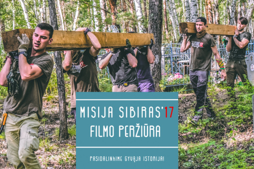 """Šiauliuose pristatys dokumentinį filmą """"Misija Sibiras'17. Iš mokyklos suolo į ekspedicijos traukinį"""""""