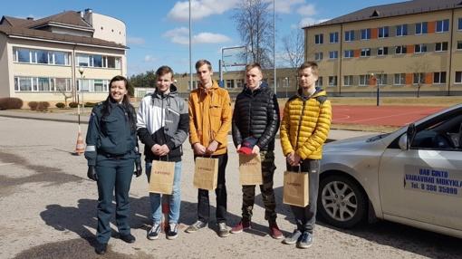 Ignalinoje vyko varžybos Saugaus eismo dienai paminėti