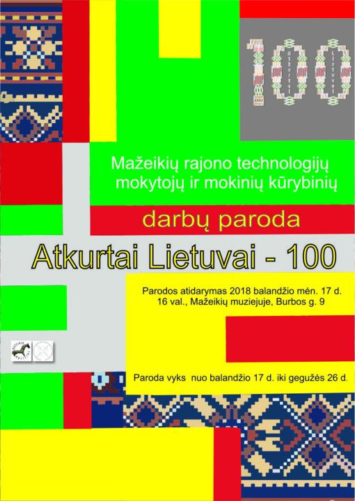 """Parodos """"Atkurtai Lietuvai - 100"""" pristatymas"""