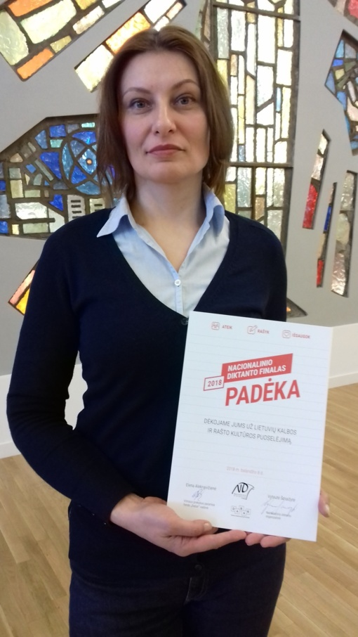 Druskininkietė Ingrida Griniūtė dalyvavo Nacionalinio diktanto antrajame ture
