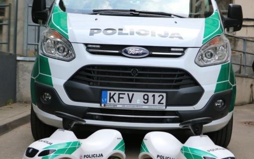 Naujieji Kauno apskrities policijos automobiliai jau išriedėjo į gatves