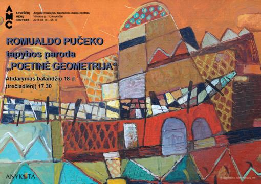 """Dailininko Romualdo Pučeko parodos """"Poetinė geometrija"""" atidarymas"""