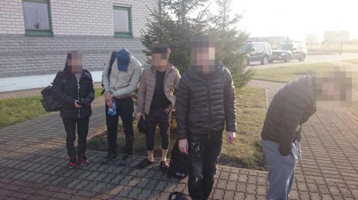 Šalčininkų rajone sulaikyti neteisėtai į Lietuvą atvykę migrantai