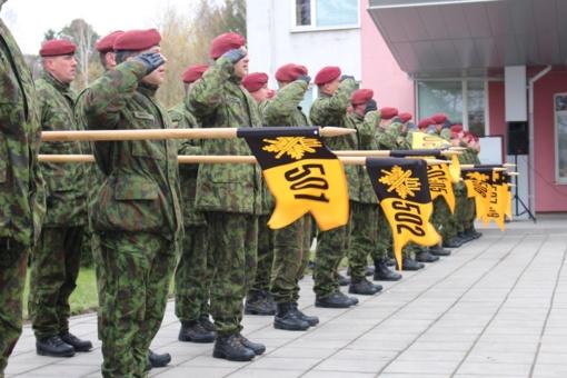Krašto apsaugos savanorių pajėgų Vyčio apygardos 5-osios rinktinės XXVII įkūrimo metinių minėjimas