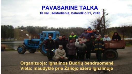 Budrių bendruomenė kviečia dalyvauti pavasarinėje talkoje