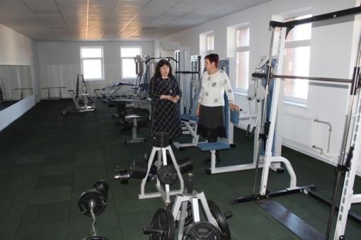 Atnaujinta treniruoklių salė Lumpėnuose