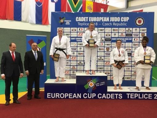 J. Kmieliauskaitė iškovojo Europos jaunių dziudo taurės varžybų Čekijoje sidabrą