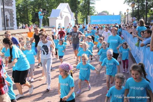 Į Druskininkus atvykęs garsenybių karavanas ragins ruoštis UNICEF vaikų bėgimui