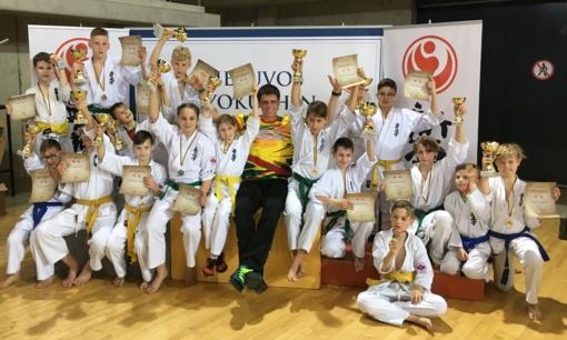 Stulbinantys kuršėniškių rezultatai Lietuvos vaikų kiokušin karatė čempionate