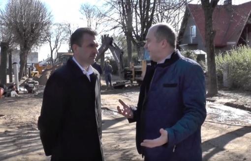 Mieste tvarkomos Sodų ir Vasario 16-osios gatvės (vaizdo reportažas)