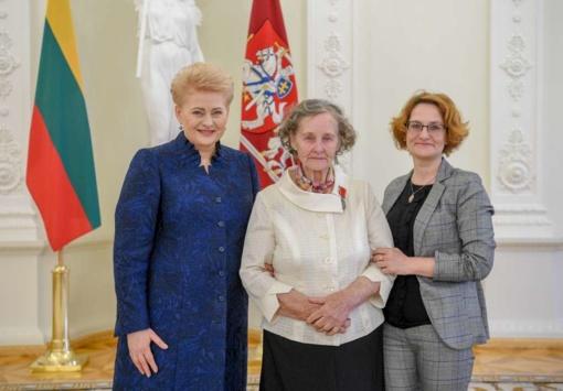 """Medalis """"Už nuopelnus Lietuvai"""" – pelaitiškei"""