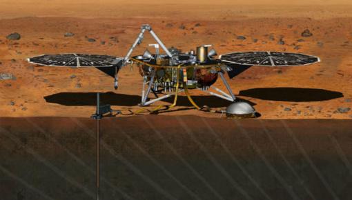 """NASA paleido į Marsą zondą """"InSight"""", tirsiantį planetos seisminį aktyvumą"""