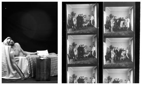 """Paroda """"Inscenizuoti paveikslai"""" A. Mončio namuose-muziejuje Palangoje"""