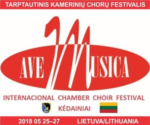 """Kėdainiuose vyks pirmasis tarptautinis kamerinių chorų festivalis """"Ave Musica"""""""