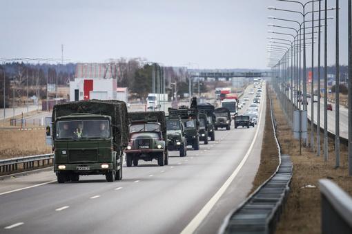 Pagrindinės JAV karinės kolonos netrukus įvažiuos į Lietuvos teritoriją