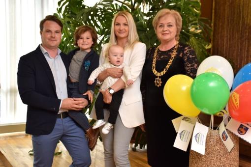 Lietuvos 100-mečio birštoniečio vaiko sutiktuvių šventėje pasveikinti mažiausieji savivaldybės gyventojai