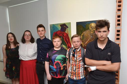 Jaunieji dailininkai pristatė baigiamuosius darbus