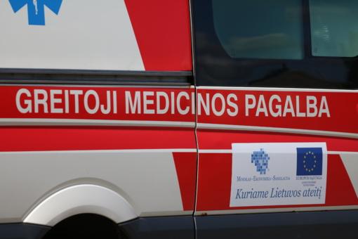Po automobilių susidūrimo nukentėjusi vairuotoja išvežta į ligoninę
