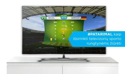 Televizorius sporto rungtynėms žiūrėti: kaip išsirinkti?