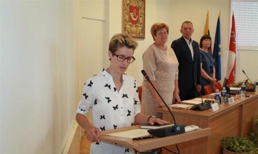 Savivaldybės tarybos posėdyje prisiekė nauja tarybos narė