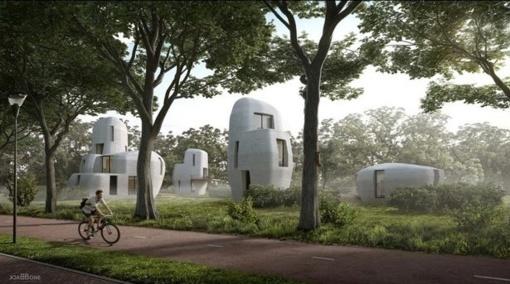 Pirmasis 3D atspausdintas pastatų kompleksas bus Olandijoje