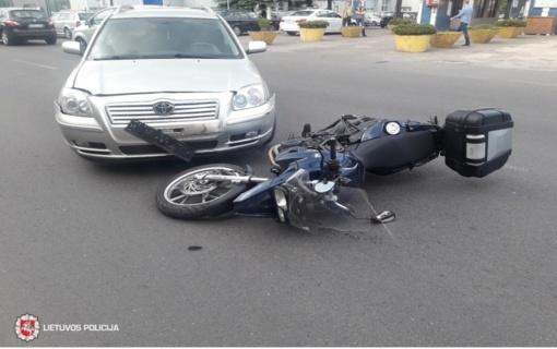 Druskininkuose per eismo įvykį nukentėjo motorolerio vairuotojas