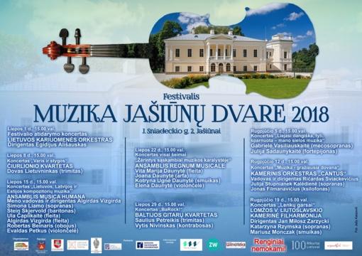 """Festivalis """"Muzika Jašiūnų dvare"""" 2018"""