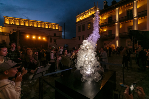 Valdovų rūmuose - skulptūrinė instaliacija, skirta Lietuvos atkūrimo šimtmečiui