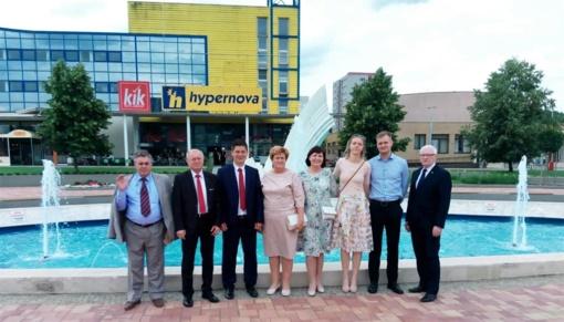 Tauragės rajono savivaldybės delegacija dalyvavo Považska Bystrica miesto (Slovakija) šventėje