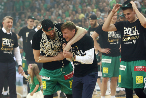 """Kauno """"Žalgiris"""" 20-ą kartą tapo LKL čempionu"""