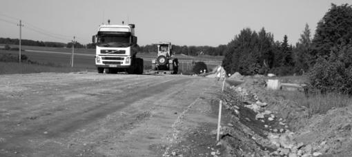 Ilgas Grūžių žvyrkelio kelias asfalto link