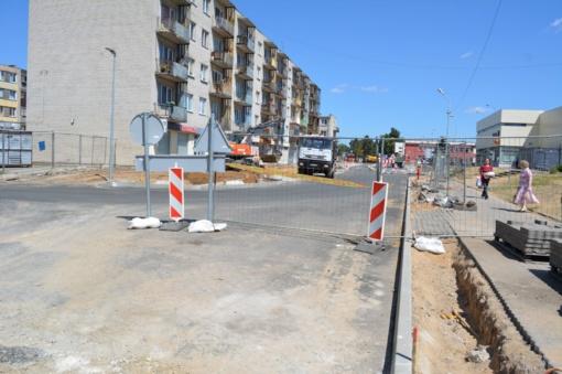 Intensyviai vykdomi J. Basanavičiaus gatvės atnaujinimo darbai