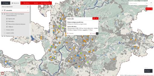 Internetinis žemėlapis padės rasti sportui ir poilsiui atsiveriančias Vilniaus mokyklas