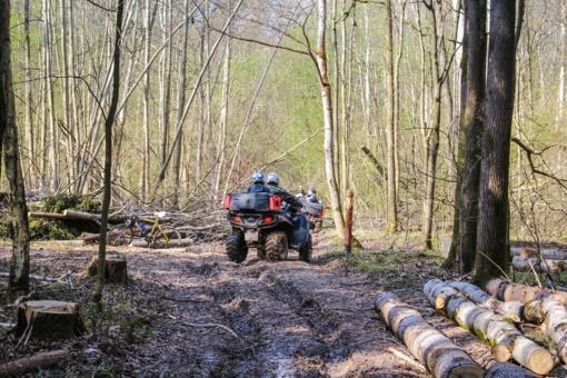 Rokiškio rajone pavogtas keturratis motociklas ir kiti daiktai