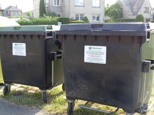 Žaliųjų atliekų surinkimo konteineriai pastatyti individualių namų valdose ir sodų bendrijose