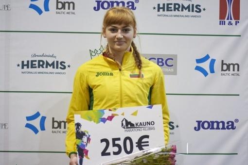 Bėgikė A. Andriukaitytė jaunimo varžybose Vokietijoje - šešta