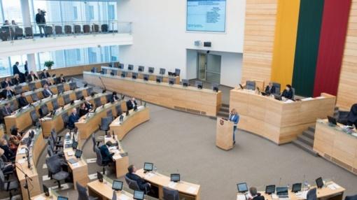 Parlamentarai trečiadienį rinksis į nenumatytą Seimo posėdį