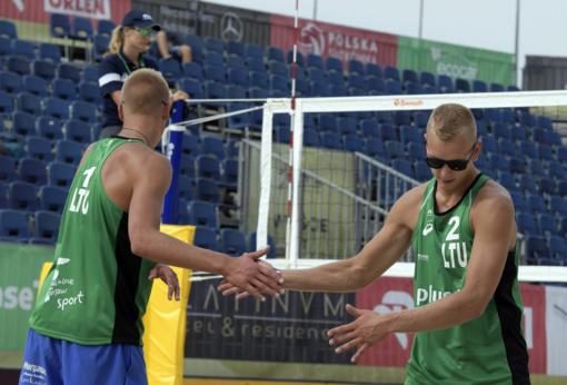 Tinklininkai A. Rumševičius ir L. Každailis iškopė į turnyro Lenkijoje pagrindines varžybas